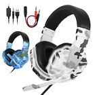 LED Ergonomic Gaming Headset Stereo Surround Sound Headphone for PS5/PS4/iPad/PC