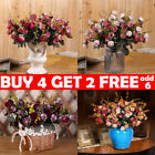 1 Bouquet 21 Head Concise Artificial Rose Silk Flower Leaf Home Wedding Decor Fy