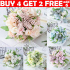 13 Heads Silk Peony Artificial Flowers Fake Bouquet Wedding Home Party Decor Lfy