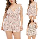 Womens Sleeveless Mini Jumpsuit Overall Playsuits Summer Casual Romper Shorts