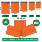Orange Postal Mailing Bags Postage Coloured Plastic Packaging Parcel Shipping