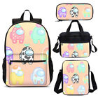 Among us Girls Large Backpack School Insulated Lunch Crossbody Bags Pen Case Lot