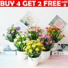 Outdoor Flower Fake False Plants Flowers Artificial Home Garden Decor Potted Lfy