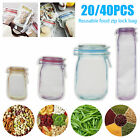 Reusable Mason Jar Bottle Bag Candy Cookie Storage Container Seal Fresh Food Bag