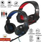 3.5mm Gaming Headset Wired Over LED Headphones Stereo w/Mic for PC Xbox One UK