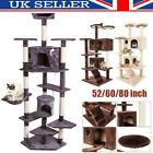 80in Multilevel Cat Tree Scratching Post Kitten Climbing Tower Activity Centre