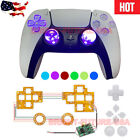 New Lighted D-Pad Analog Thumbstick Button LED Kit For Sony PS5  PS4 Controller