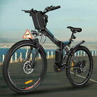 26'' Electric Bike Mountain Bicycle City Folding Ebike 21Speed350W Battery+NO.1.