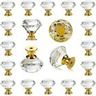 25PCS Crystal Glass Knobs Drawer Pulls Kitchen Cabinet Door Cupboard Pull Handle
