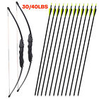 """51"""" Archery Takedown Recurve Bow Hunting Right Hand Bow Shoot Hunting 30/40 lbs"""
