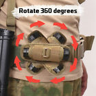 Tactical Molle Flashlight Holder 360 Degree Rotatable Clip Torch Pouch for Belt