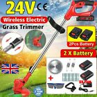 24V Cordless Grass Trimmer Electric Lawn Strimmer Lithium Battery & Blades Kits