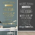 Wall Sticker Home Office Room Decor Mirror Effect Never Give Up High Quality