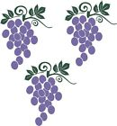 Grapes Fruit Wall Stickers Vinyl Kitchen Decor Decal