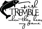 Fish Tremble Funny Wall Sticker Words Letters Decal