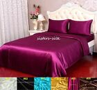 4 PCS 22MM 100% PURE SILK DUVET COVER FITTED SHEET PILLOW CASES COVER SET SIZE