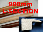 900mm FLOOR EDGING THRESHOLD END L-SECTION SOLID WOOD