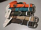 """MENDOTA Double Braided Dog Collar 1"""" W Up to 18"""" L SOFT Made in USA"""