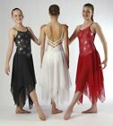 Elegant  Black Red White Lyrical Dress Dance Costume