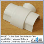 D-Line 60x30 Back Box Adaptor T Junction Cable Covers