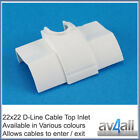 D-Line Quadrant Cable Inlet for TV Wire Hiding Covers