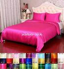 16MM 100% PURE SILK DUVET COVER & FLAT SHEET & PILLOW CASES COVERS SET ALL SIZE