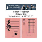 "Guitar 1st Position 4.25""x5.5"" Music Flashcards by N&S"