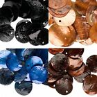 25 Round Capiz Shell Coin Charms 20mm  *You Choose