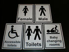 workplace / office / shop toilet sign 105 x 150 BLACK