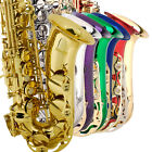 Mendini Eb Alto Saxophone Sax ~Gold Silver Blue Green Purple Red+Tuner+Case+Book