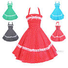 Maggie Tang 50s 60s VTG Pinup Lace Polka Dots Rockabilly Swing Dress 503