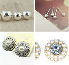Classic 925 sterling silver smooth ball stud earrings, multiple sizes