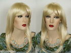 Glamorous Face Framing Long Blonde Brunette Straight Skin Top Wigs with Bangs