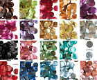 100 Mussel Shell Coin Drop Charms 15mm ** Many Colors Available
