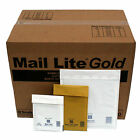 ALL SIZES A-K Gold & White MAIL LITE Envelopes Bubble Lined Padded Bags FREE P&P