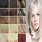 clip in real human hair extensions black brown blonde red,AAA quality 22ineh