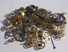 Vintage antique Steampunk Watch Parts Pieces gears cogs wheels 150+ Lot 10g