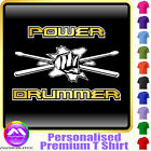 Drum Fist and Sticks Power Drummer - Music T Shirt 5yrs - 6XL by MusicaliTee