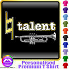 Trumpet Natural Talent - Personalised Music T Shirt 5yrs - 6XL by MusicaliTee