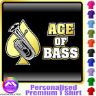 Baritone Ace Of Bass - Personalised Music T Shirt 5yrs - 6XL by MusicaliTee