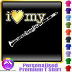 Clarinet I Love My - Personalised Music T Shirt 5yrs - 6XL by MusicaliTee