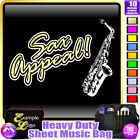 Sax Alto Sax Appeal - Sheet Music & Accessories Personalised Bag by MusicaliTee