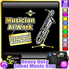 Sax Baritone Dont Wake Me - Sheet Music & Accessories Custom Bag by MusicaliTee