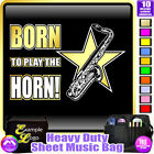 Sax Tenor Born To Play - Sheet Music & Accessories Custom Bag by MusicaliTee