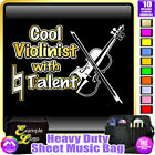 Violin Cool Violinist With Natural Talent - Sheet Music Custom Bag MusicaliTee