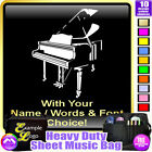 Piano Picture With Your Words - Sheet Music & Accessories Bag by MusicaliTee