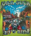 "Biker Printed ""Work Sucks Let's Ride "" T-Shirts"