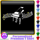 Piano Curved Stave - Personalised Music Gift T Shirt 5yrs-6XL MusicaliTee 2