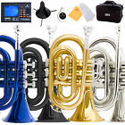 Mendini Mini / Pocket Trumpet ~Gold Silver Black Blue +Stand+Tuner