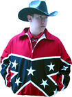 Mens or Ladies Western Jacket USA American Confederate Flag 100% Cotton